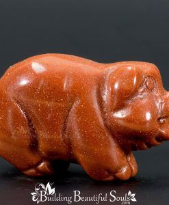 Goldstone Pig Boar Spirit Totem Power Animal Carving 1000x1000