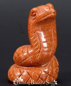 Goldstone Snake Spirit Totem Power Animal Carving 1000x1000