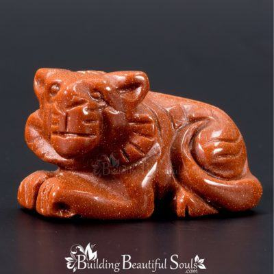 Goldstone Tiger Spirit Totem Power Animal Carving 1000x1000