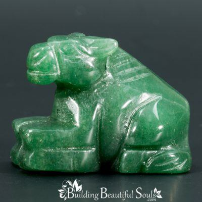 Green Aventurine Horse Spirit Totem Power Animal Carving