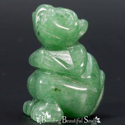 Green Aventurine Monkey  Spirit Totem Power Animal Carving