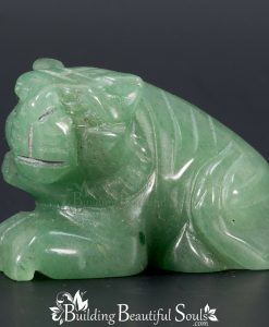 Green Aventurine Tiger Spirit Totem Power Animal Carving 1000x1000