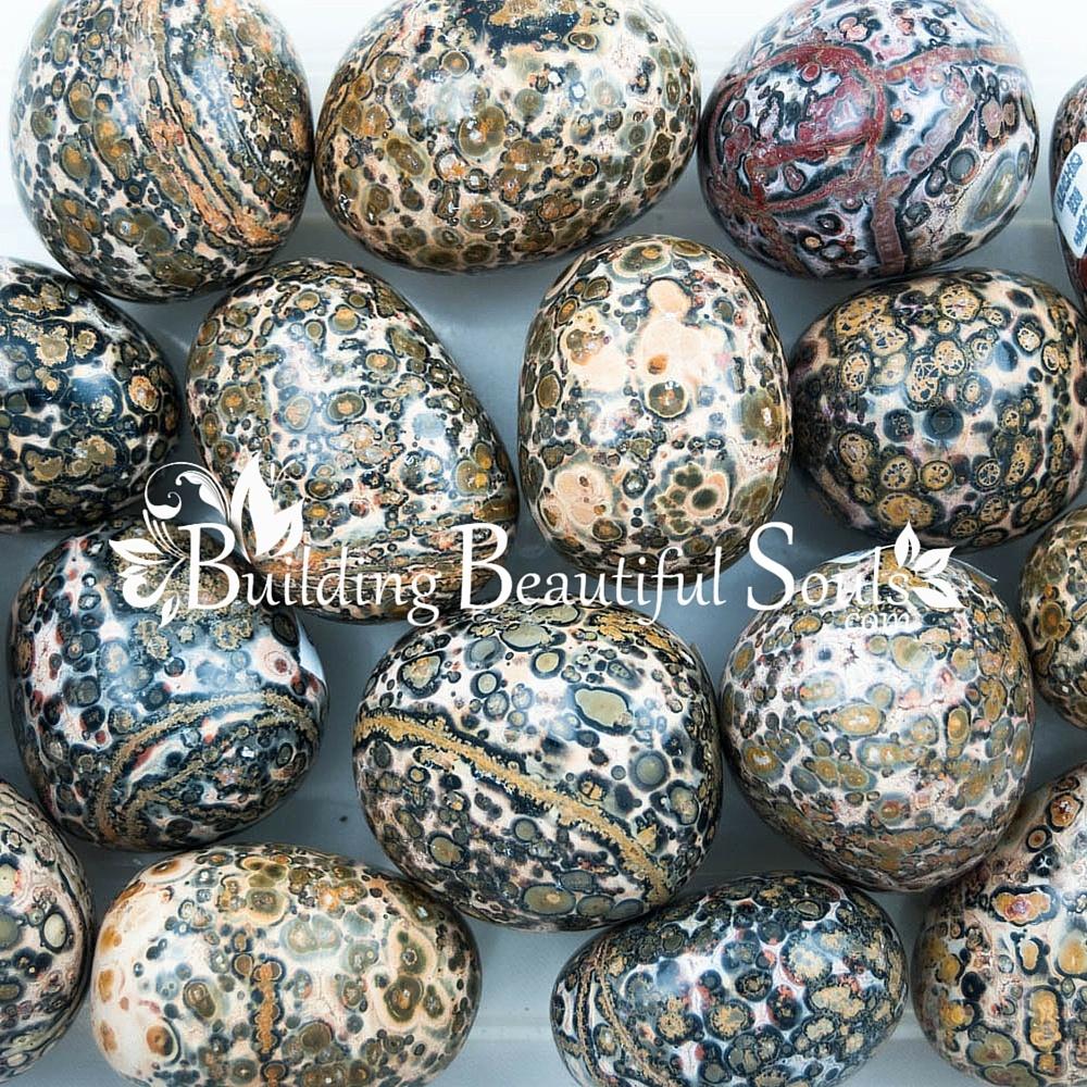 Leopard skin jasper ~ 1 medium tumbled stone