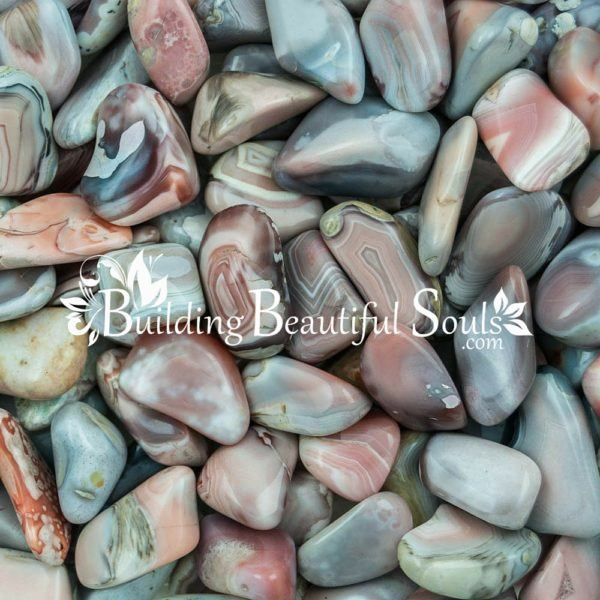 Healing Crystals Stones Tumbled Pink Botswana Agate Metaphysical New Age Store 1000x1000