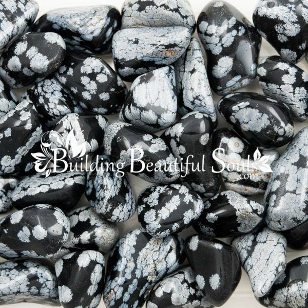 Healing Crystals Stones Tumbled Snowflake Obsidian Metaphysical New Age Store