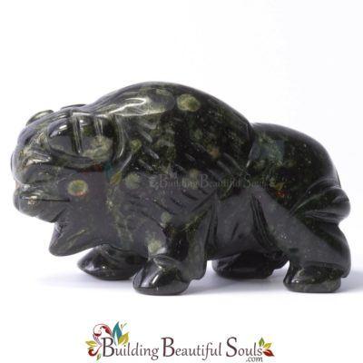 Kamababa Jasper Buffalo Spirit Totem Animal Figurine Carving