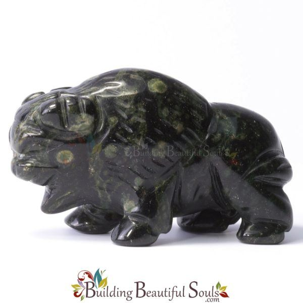 Kamababa Jasper Buffalo Spirit Totem Animal Figurine Carving 1000x1000