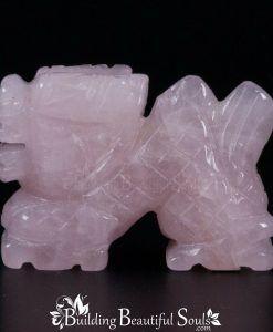 Rose Quartz Dragon Spirit Totem Power Animal Carving 1000x1000