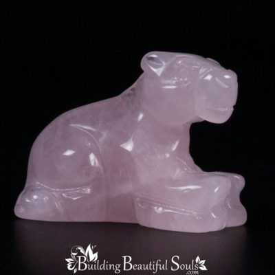 Rose Quartz Horse Spirit Totem Power Animal Carving