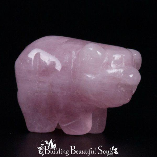 Rose Quartz Pig Boar Spirit Totem Power Animal Carving 1000x1000