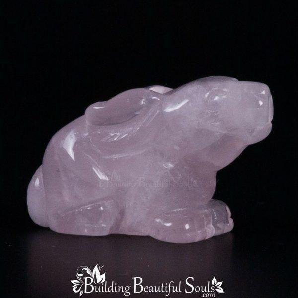 Rose Quartz Rabbit Spirit Totem Power Animal Carving 1000x1000