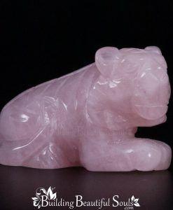 Rose Quartz Tiger Spirit Totem Power Animal Carving 1000x1000