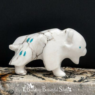 Zuni Fetishes Buffalo White Howlite Turquoise Bremette Epaloose Native American Art B