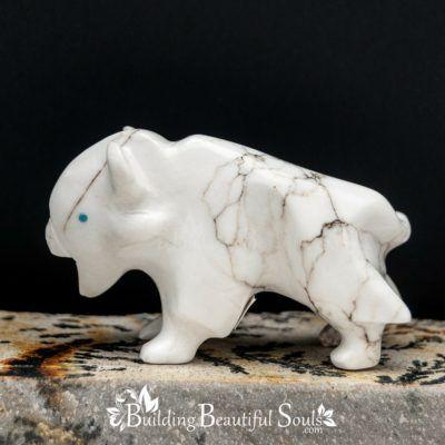 Zuni Fetishes Buffalo White Howlite Turquoise Bremette Epaloose Native American Art C