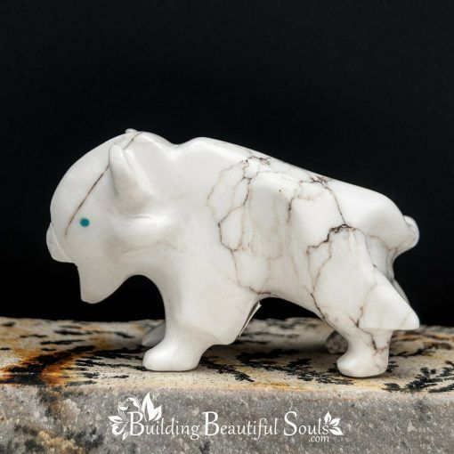 Zuni Fetishes Buffalo White Howlite Turquoise Bremette Epaloose Native American Art C 1000x1000