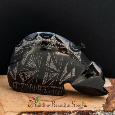 Zuni Fetishes Butterfly Bear Black Marble Gerald Peina Native American Art B
