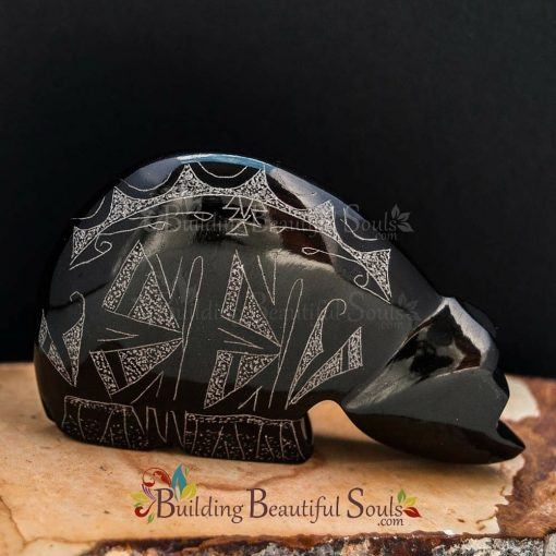 Zuni Fetishes Butterfly Bear Black Marble Gerald Peina Native American Art B 1000x1000