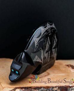 Zuni Fetishes Butterfly Bear Black Marble Gerald Peina Native American Art C 1000x1000