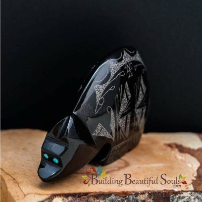 Zuni Fetishes Butterfly Bear Black Marble Gerald Peina Native American Art C