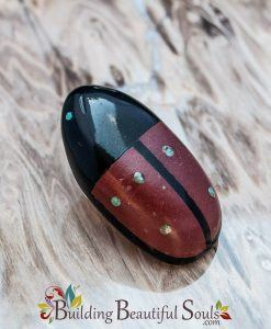 Zuni Fetishes Lady Bug Black Marble Red Jasper Brandon Phillips Native American Art 1000x1000