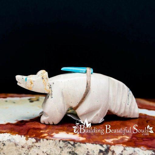 Zuni Fetishes Wolf Dolomite Edison Sanchez Native American Art A 1000x1000