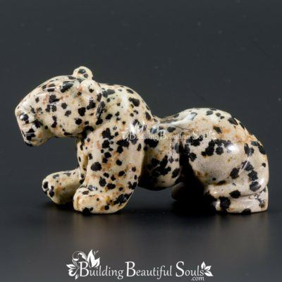 Dalmation Jasper Leopard Spirit Totem Animal Figurine Carving 1000x1000