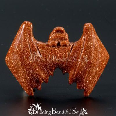 Goldstone Bat Spirit Totem Animal Figurine Carving 1000x1000