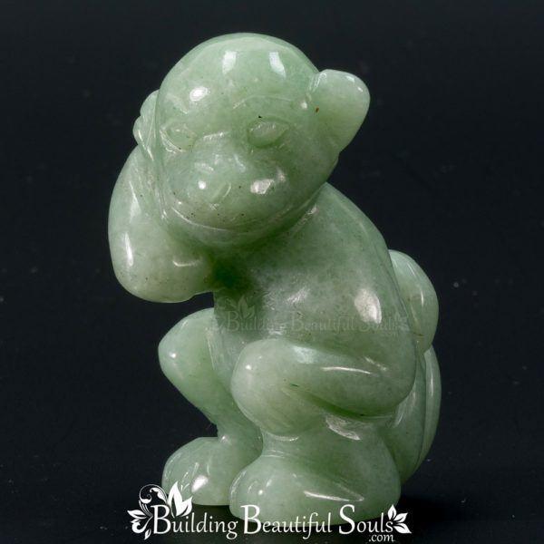 Green Aventurine Monkey Spirit Totem Animal Figurine Carving 1000x1000