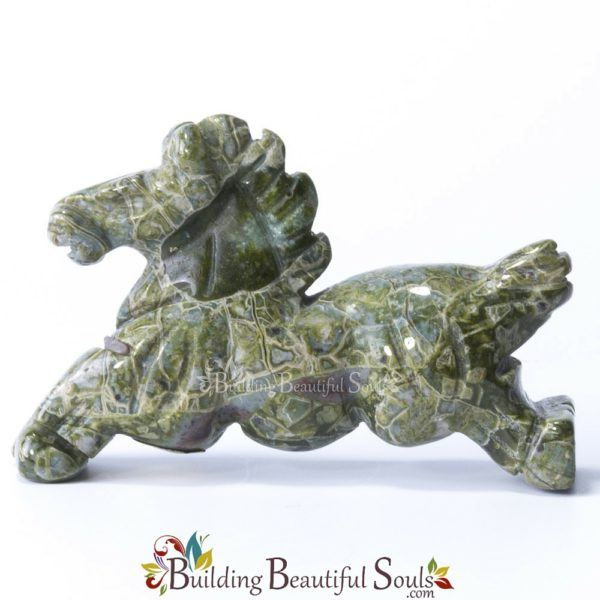 Green Rhyolite Horse Spirit Totem Animal Figurine Carving 1000x1000