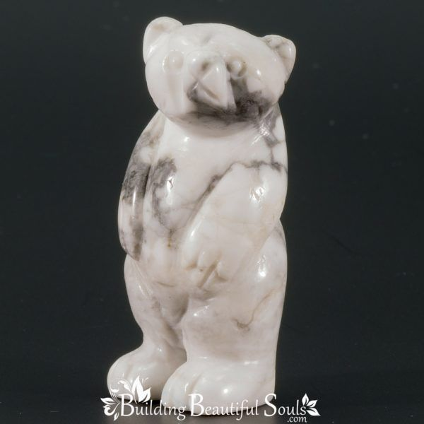 Howlite Bear Spirit Totem Animal Figurine Carving 1000x1000