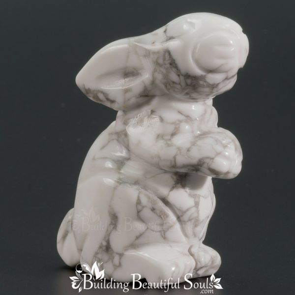 Howlite Rabbit Spirit Animal Totem Figurine 1000x1000