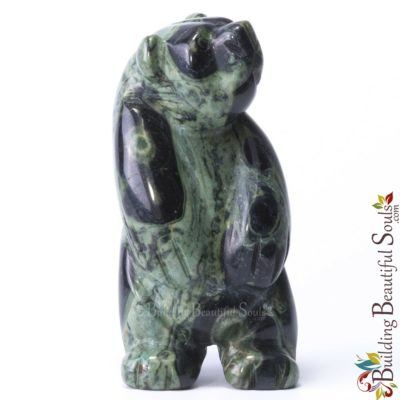 Kambaba Jasper Bear Spirit Totem Animal Figurine Carving