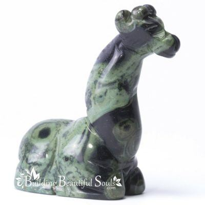 Kambaba Jasper Giraffe Spirit Totem Animal Figurine Carving