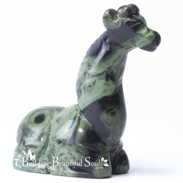 Kambaba Jasper Giraffe Spirit Totem Animal Figurine Carving 1000x1000