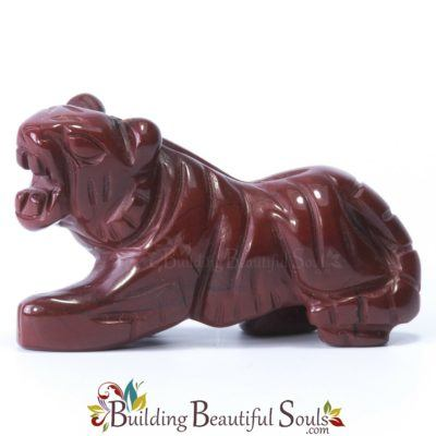 Red Jasper Tiger Spirit Animal Totem Figurine