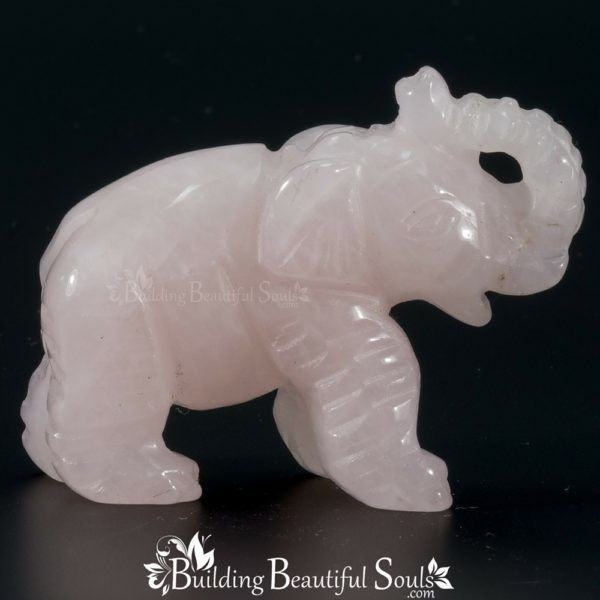 Rose Quartz Elephant Spirit Totem Animal Figurine Carving 1000x1000