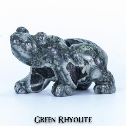 green rhyolite bear spirit animal carving walking 1a 1000x1000