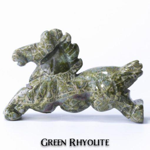 green rhyolite horse spirit animal carving 1d 1000x1000