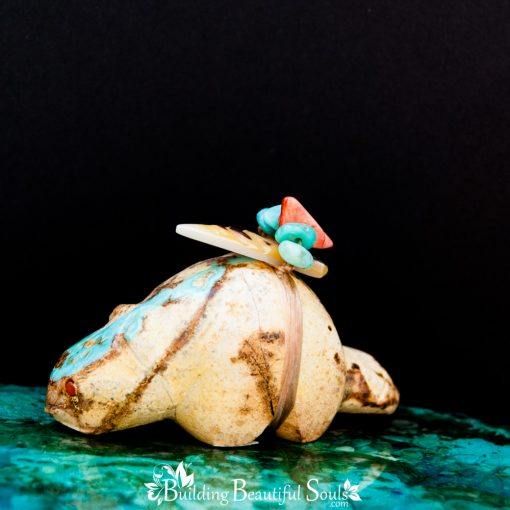 Nevada Royston Turquoise Beaver Zuni Fetish back 1000x1000
