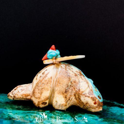 Nevada Royston Turquoise Beaver Zuni Fetish front 1000x1000