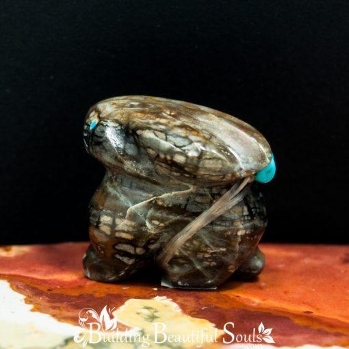 Picasso Marble Rabbit Zuni Fetish Daisy Natewa back 1000x1000