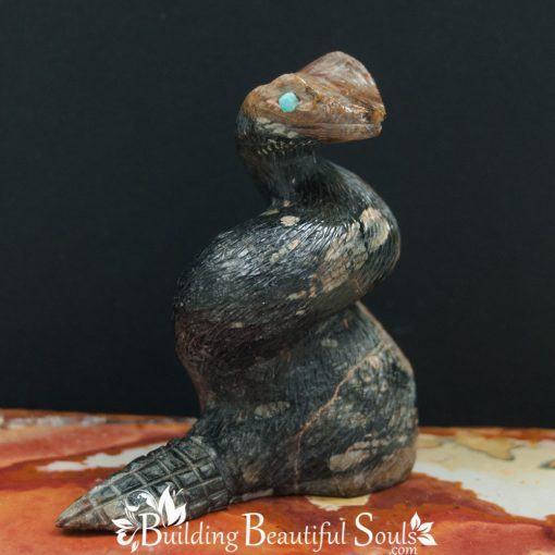Picasso Marble Snake Zuni Fetish Dana Malani front 1000x1000