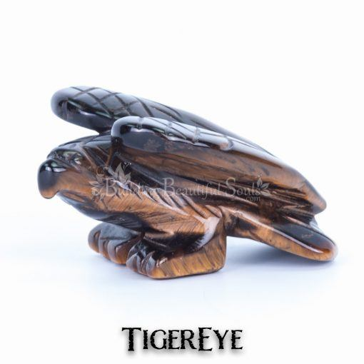 tigereye eagle spirit animal carving standing 1a 1000x1000