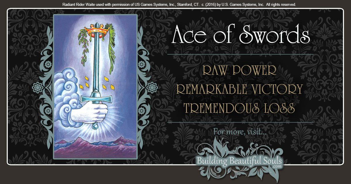 The Ace of Swords Tarot Card Meanings 1200x630