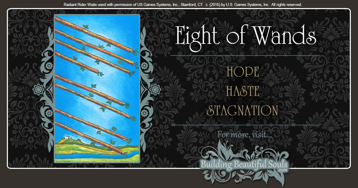 The Eight of Wands Tarot Card Meanings 1200x630