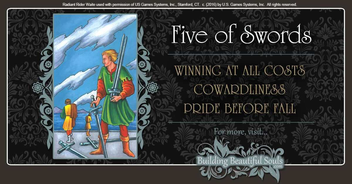 The Five Of Swords Tarot Card Meanings Tarot Reading