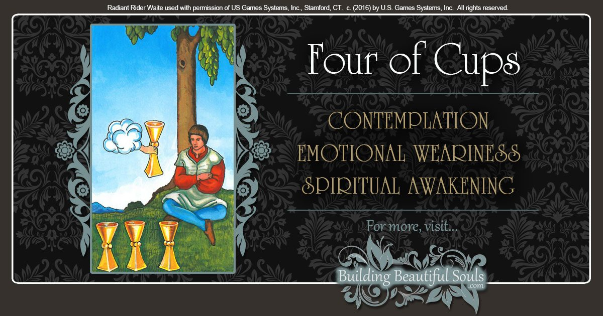 The Four of Cups Tarot Card Meanings 1200x630