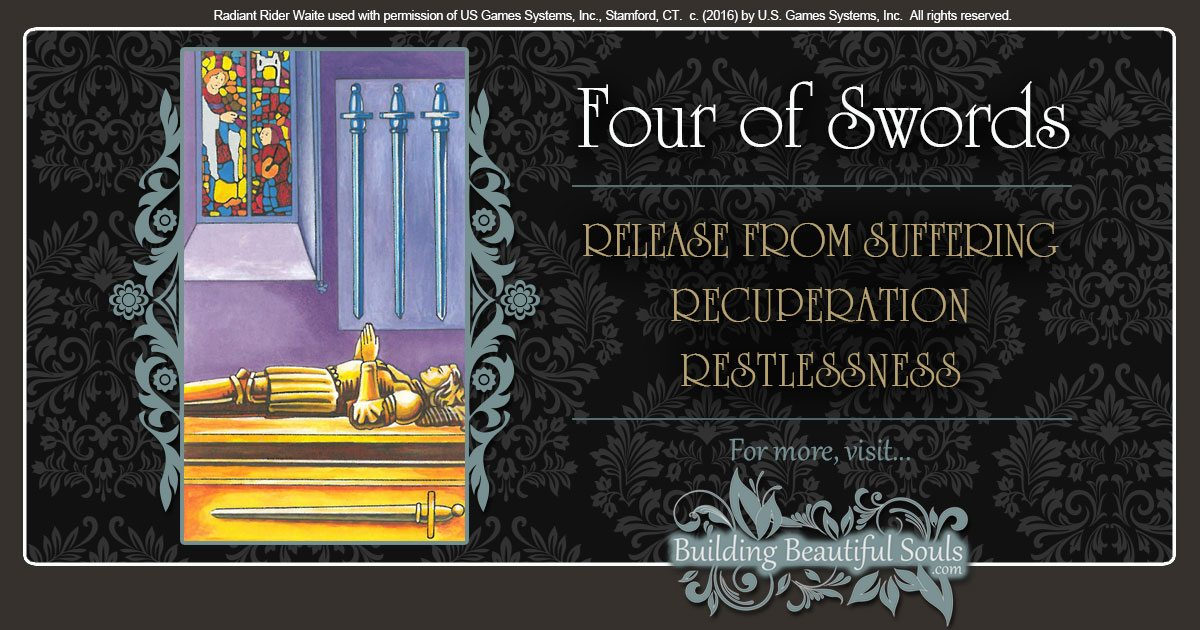 The Four of Swords Tarot Card Meanings 1200x630