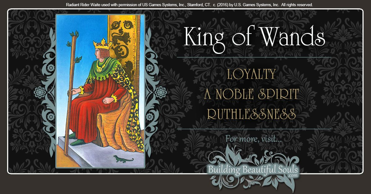 The King of Wands Tarot Card Meanings 1200x630