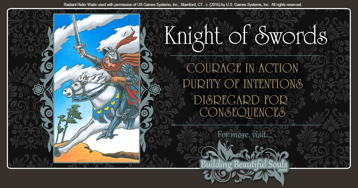 The Knight of Swords Tarot Card Meanings 1200x630